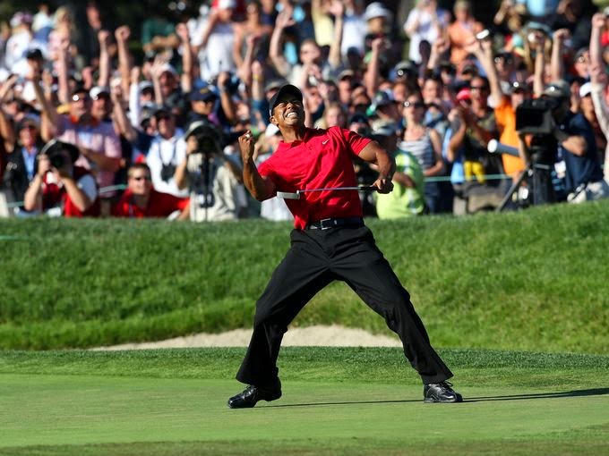Image result for tiger woods masters chip in